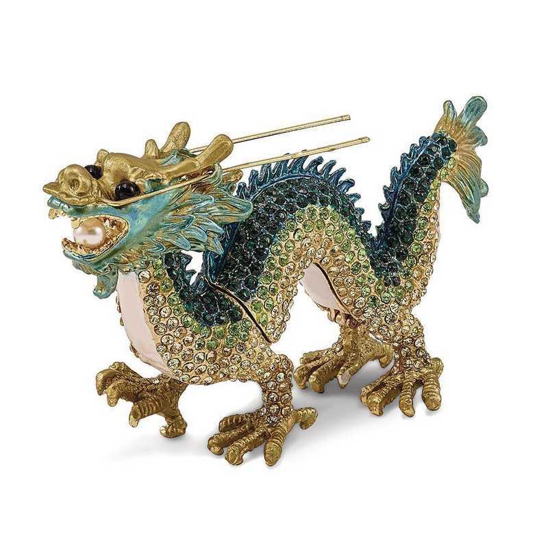 BJ3097: Bejeweled CHI Chinese Dragon Trinket Box
