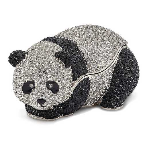 BJ3098: Bejeweled TING TING Full Crystal Panda Bear Trinket Box