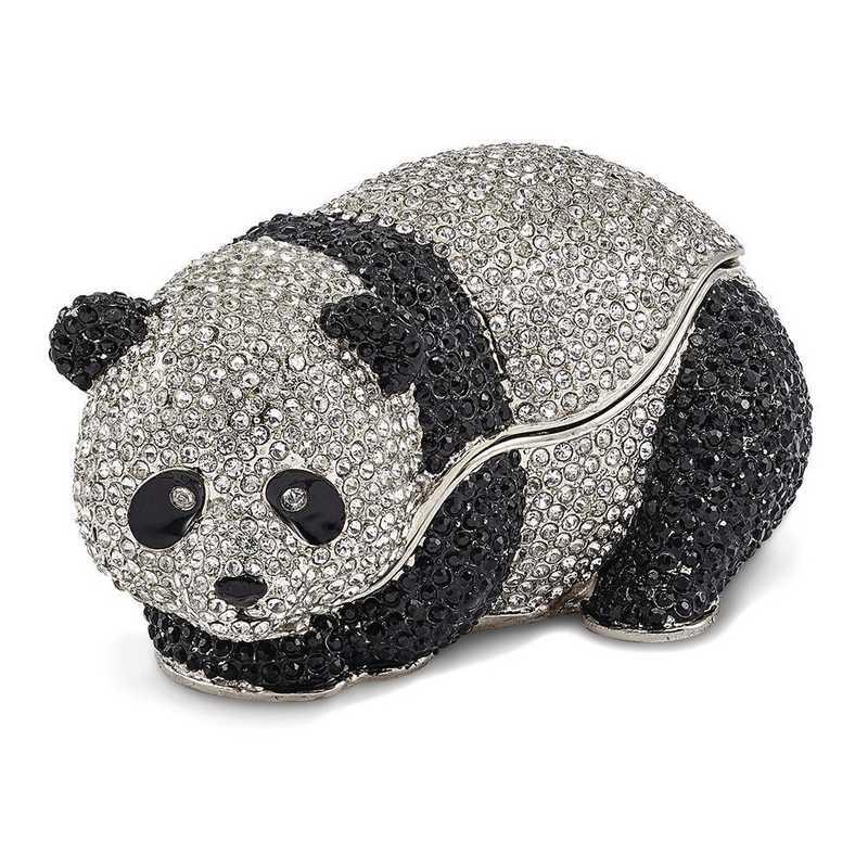 BJ3098: Bejeweled TING TING Full Crystal Panda Bear Trinket Box