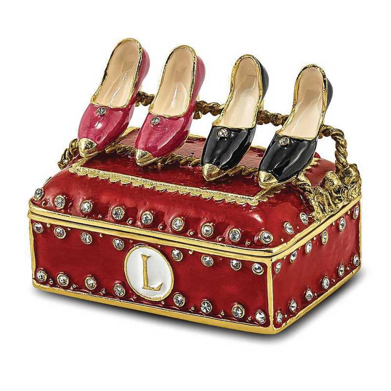 BJ4004: Bejeweled IMELDA'S Shoe Rack Trinket Box