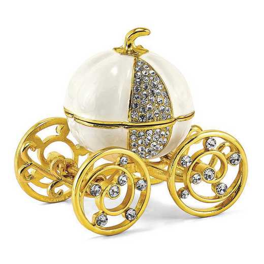 BJ4007G: Bejeweled AFTER MIDNIGHT Pumpkin Coach Trinket Box