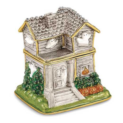 BJ4048: Bejeweled VACANCY Haunted House with Ghosts Trinket Box