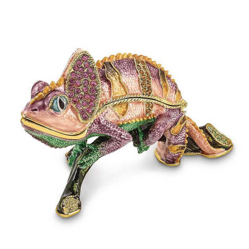BJ4060: Bejeweled CAMILLE Chameleon Trinket Box