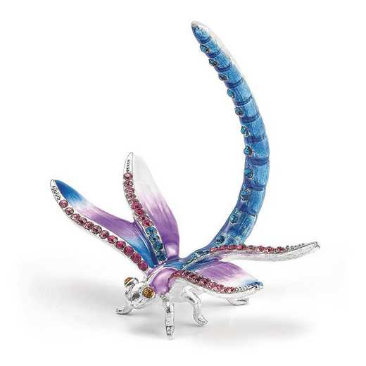 BJ4083: Bejeweled DIVA Dragonfly Ring Holder Trinket Box