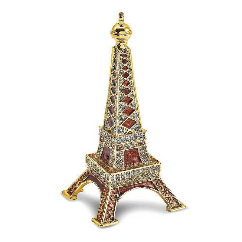 BJ4097: Bejeweled PARIS Eiffel Tower Ring Holder Trinket Box