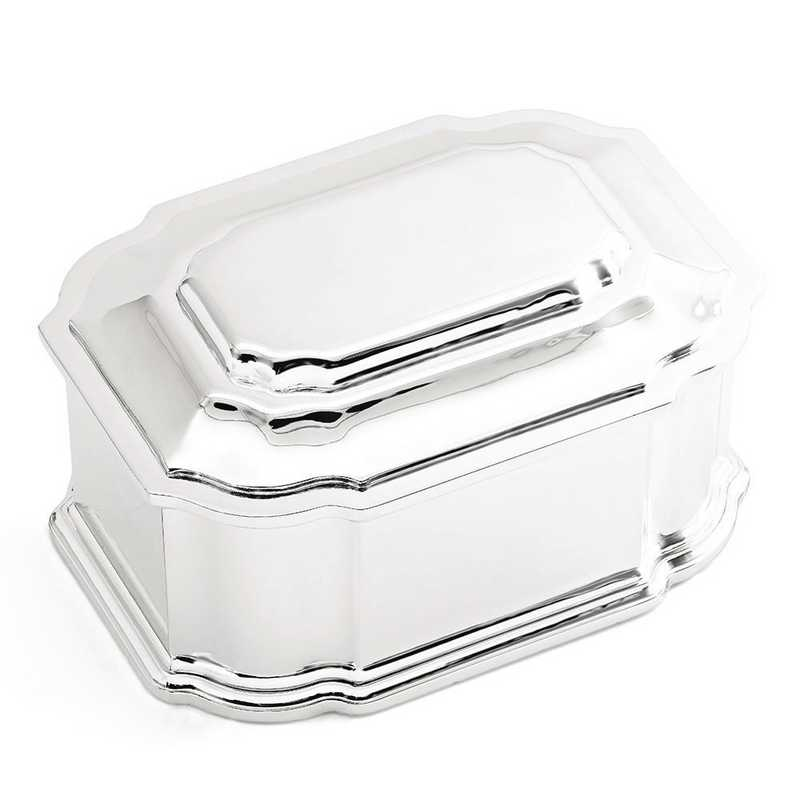 GP3704: Silver-plated Hinged Lid Jewelry Box