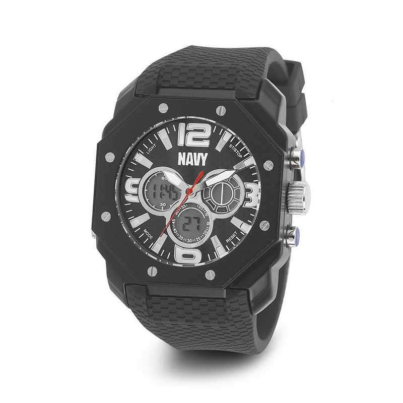 XWA4570: US Navy Wrist Armor C28 Blk Silicone Strap Ana-Digital Watch