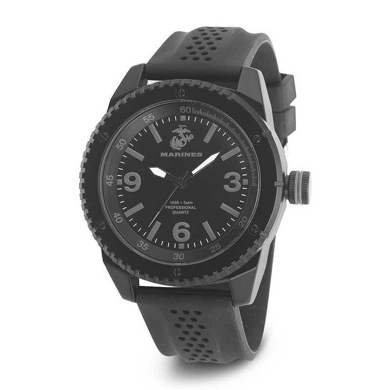 XWA4615: US Marines Wrist Armor C20 Blk Stealth Watch