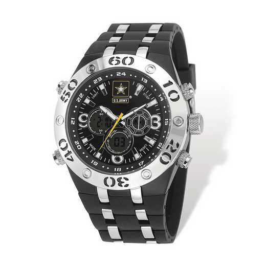 XWA5305: US Army Armor C23 Silicone/Alloy Strap Ana-Digital Watch