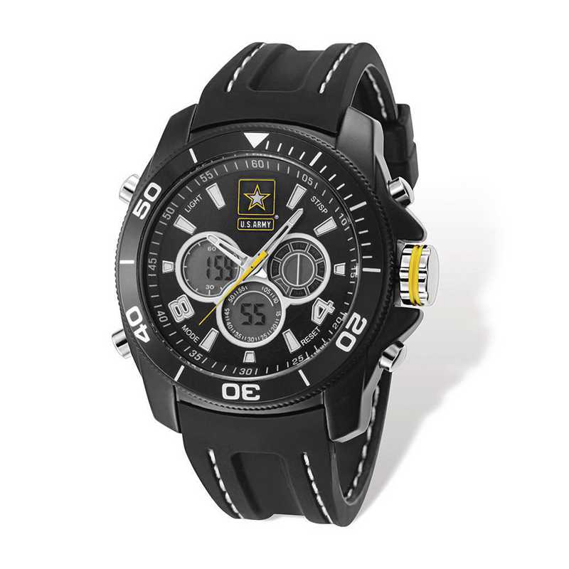 XWA5307: US Army Wrist Armor C29 Blk Silicone Ana-Digital Watch