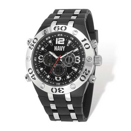 XWA5315: US Navy Wrist Armor C23 Silicone/Alloy Strap Ana-Digi Watch