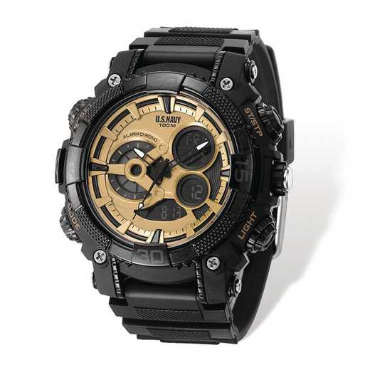 XWA5317: US Navy Wrist Armor C40 Black/Gold Ana-Digital Watch