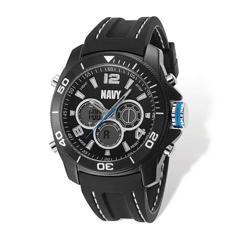 XWA5319: US Navy Wrist Armor C29 Blk Silicone Strap Ana-Digital Watch