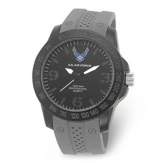 XWA5470: US Air Force Wrist Armor C26 Grey Silcone Black Dial Watch