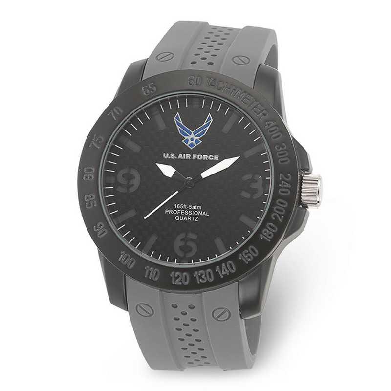 XWA5470: US Air Force Wrist Armor C26 Grey Silcone Black Dial Watch