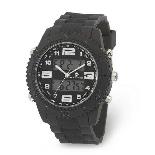 XWA6008: US Marines Wrist Armor C27 Silicone Strap Ana-Digital Watch