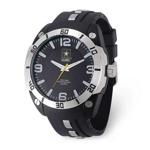 XWA6015: US Army Armor C36 Silicone/Alloy Strap - Black Dial Watch