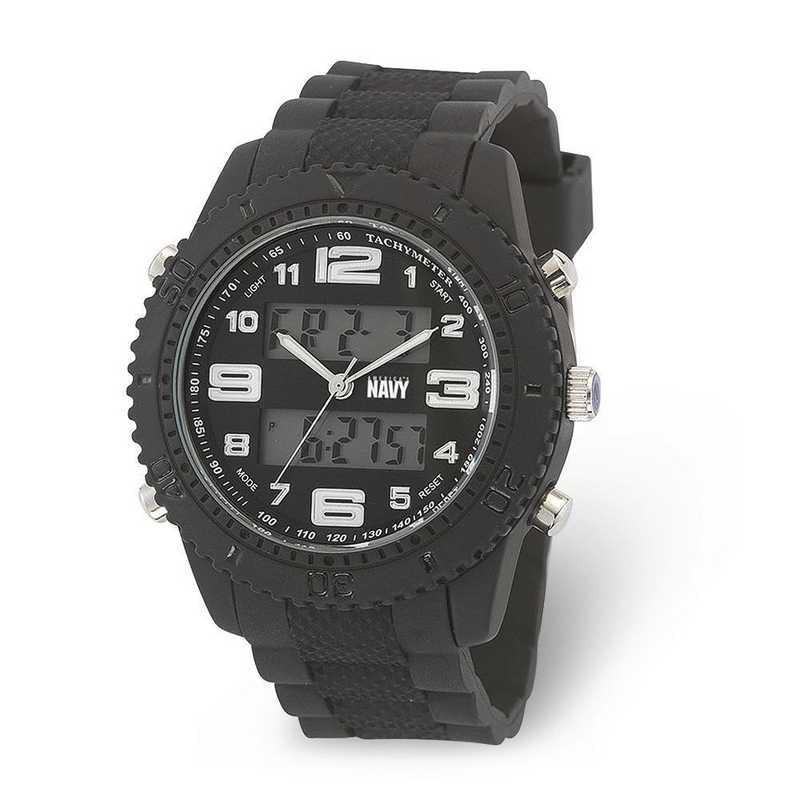 XWA6018: US Navy Wrist Armor C27 Blk Silicone Strap Ana-Digital Watch