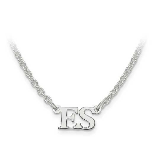 XNA654SS: 925 Laser Polished Initial Pendant With Chain