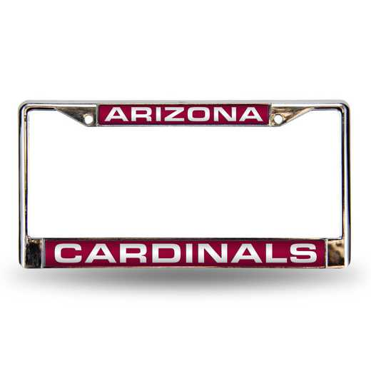 FCL3601: NFL FCL Chrome Lsr License Frame Cardina