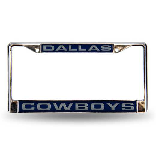 FCL1801: NFL FCL Chrome Lsr License Frame Cowboys