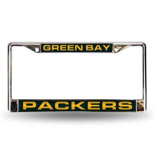 FCL3301: NFL FCL Chrome Lsr License Frame Packers