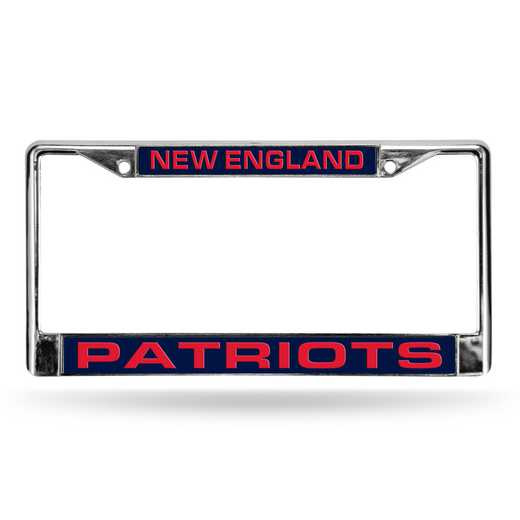 FCL1501: NFL FCL Chrome Lsr License Frame Patriot