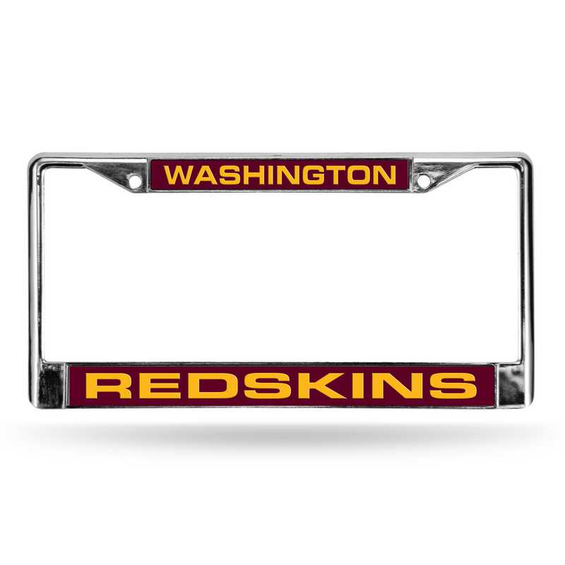 FCL1003: NFL FCL Chrome Lsr License Frame Redskin