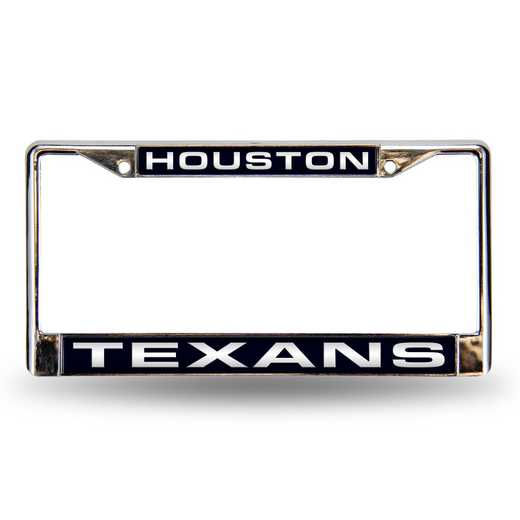 FCL0601: NFL FCL Chrome Lsr License Frame Texans