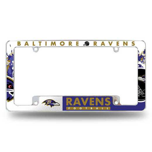 AFC0701B: RAVENS ALL OVER CHROME FRAME