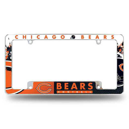 AFC1201B: BEARS ALL OVER CHROME FRAME