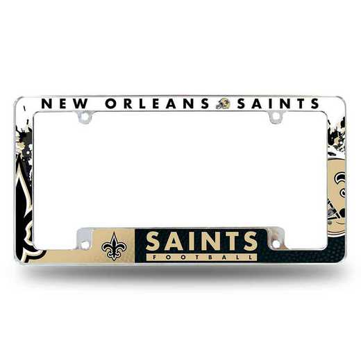 AFC1301B: SAINTS ALL OVER CHROME FRAME