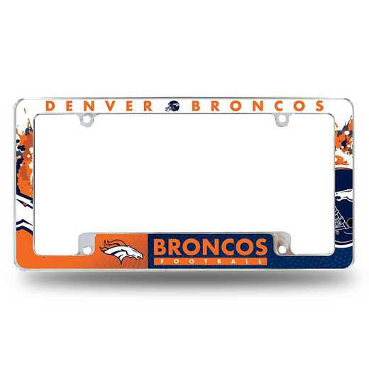 AFC1601B: BRONCOS ALL OVER CHROME FRAME