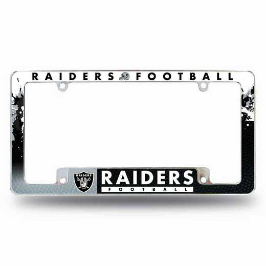 AFC1701B: RAIDERS ALL OVER CHROME FRAME