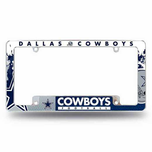 AFC1801B: COWBOYS ALL OVER CHROME FRAME