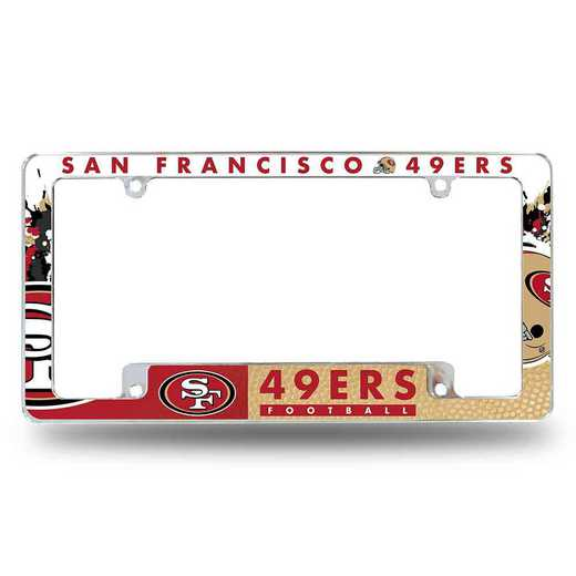 AFC1901B: 49ERS ALL OVER CHROME FRAME