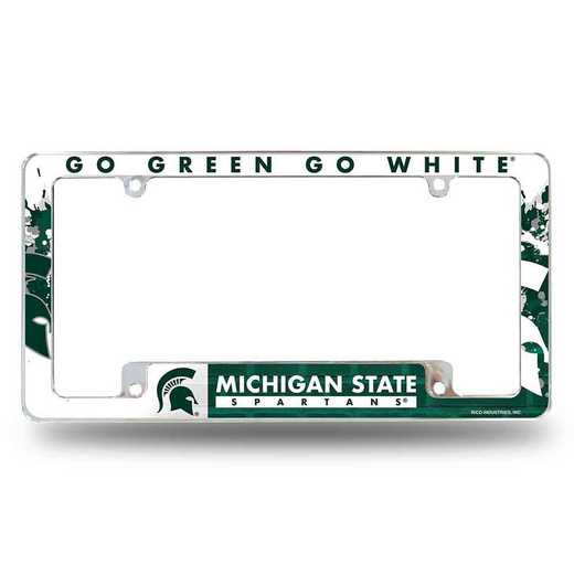 AFC220101B: MICHIGAN STATE ALL OVER CHROME FRAME