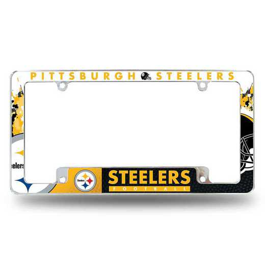 AFC2301B: PITTSBURGH STEELERS ALL OVER CHROME FRAME