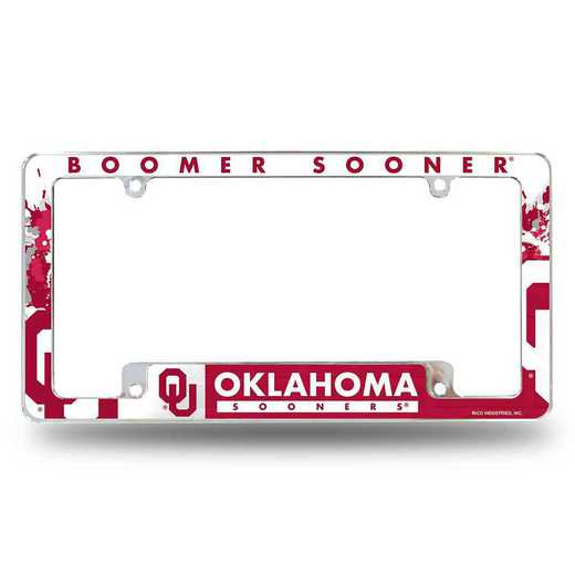 AFC230201B: OKLAHOMA ALL OVER CHROME FRAME