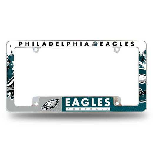AFC2501B: EAGLES ALL OVER CHROME FRAME