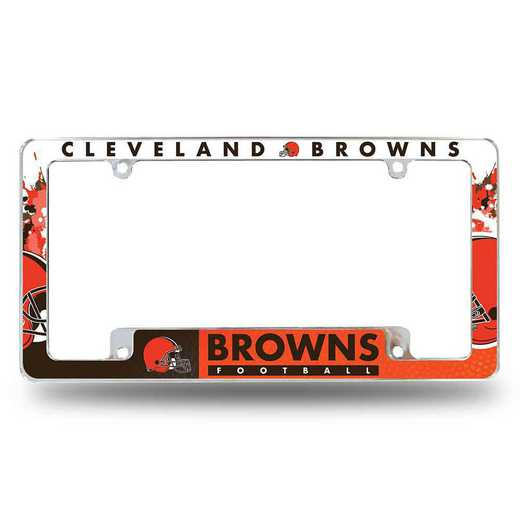 AFC2801B: BROWNS ALL OVER CHROME FRAME