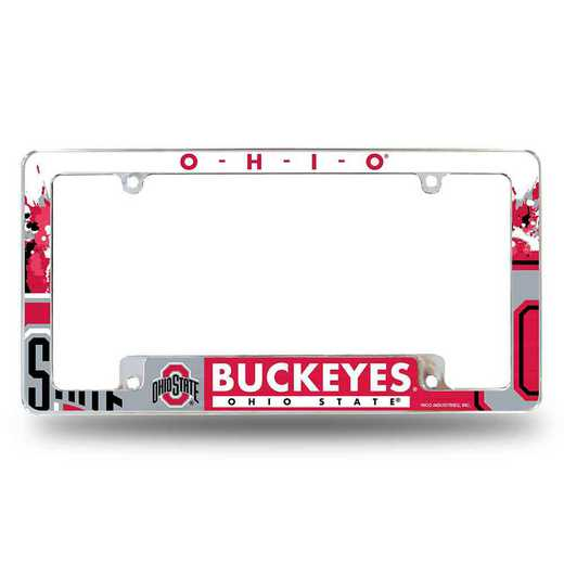 AFC300101B: OHIO STATE ALL OVER CHROME FRAME