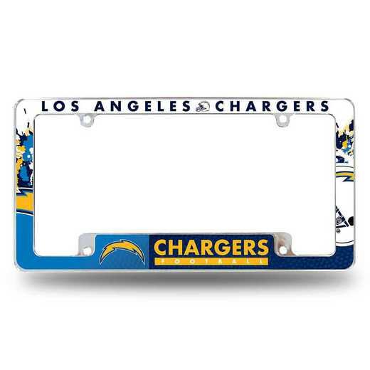 AFC3401B: LOS ANGELES CHARGERS ALL OVER CHROME FRAME