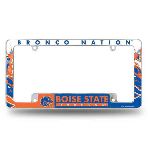 AFC490701B: BOISE STATE ALL OVER CHROME FRAME (BOTTOM)