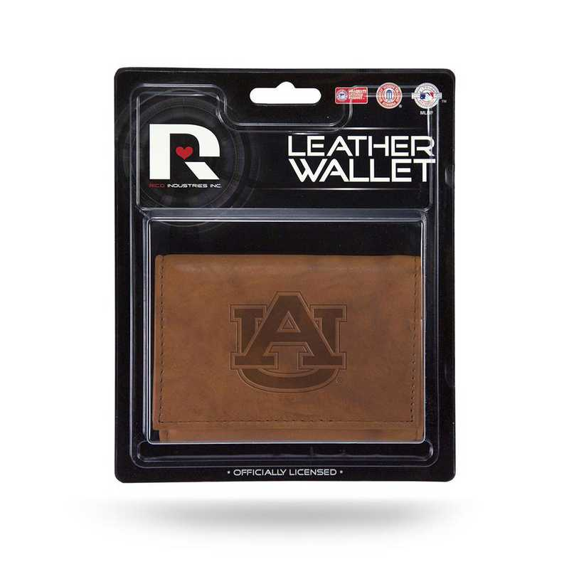 MTR150201: AUBURN LEATHER/MANMADE TRIFOLD