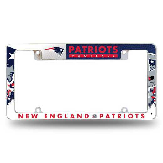 AFC1501T: PATRIOTS ALL OVER CHROME FRAME