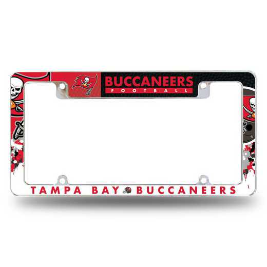 AFC2101T: BUCCANEERS ALL OVER CHROME FRAME