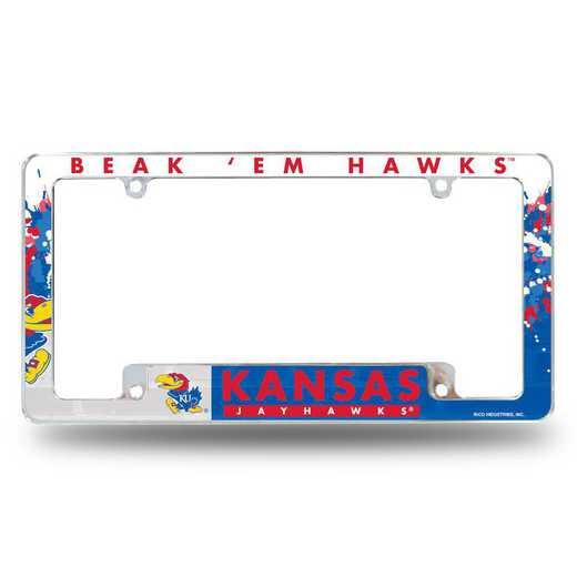 AFC310101B: KANSAS UNIVERSITY ALL OVER CHROME FRAME