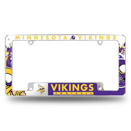 AFC3101B: VIKINGS ALL OVER CHROME FRAME
