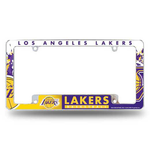 AFC82001B: LAKERS ALL OVER CHROME FRAME